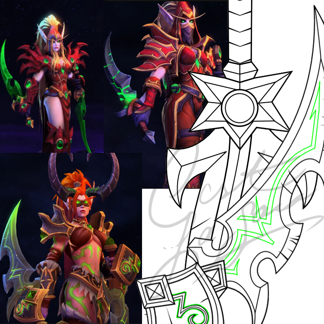 valeera sanguinar cosplay pattern pdf download blueprint printable