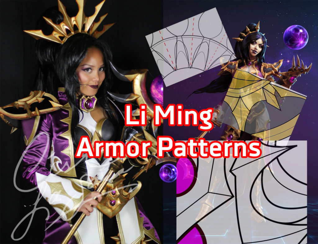 li ming cosplay armor pattern pdf printable cestlasara kit heroes of the storm