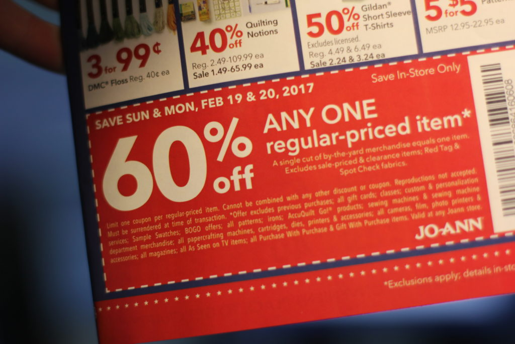 joann coupon guide getting more savings discounts 60% off coupon
