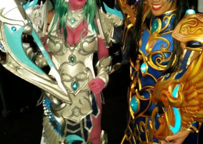 Niha Novacaine and me as Tyrande, different versions