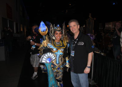 With Mike Morhaime, Co-Founder and CEO of Blizzard backstage