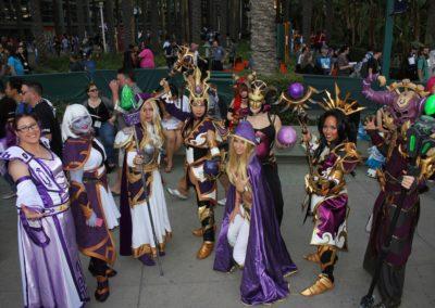 Purple cosplayers!