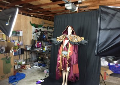 Makeshift photo studio in my garage