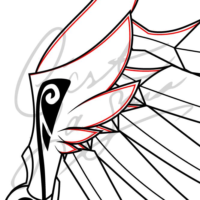 valkyrie mercy overwatch cosplay cestlasara printable wing pattern pdf blueprint