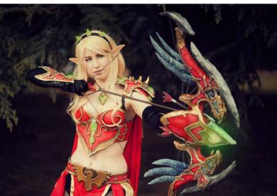 Blood Elf Hunter w/ Thas'dorah Bow - World of Warcraft